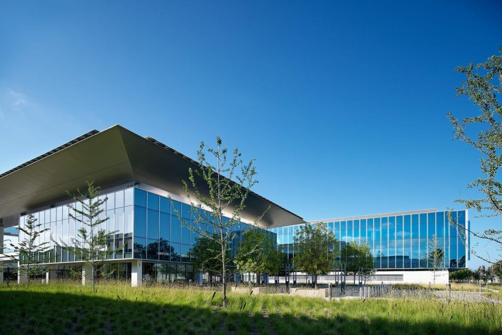 Campus shots of Edwards Lifesciences new buildings